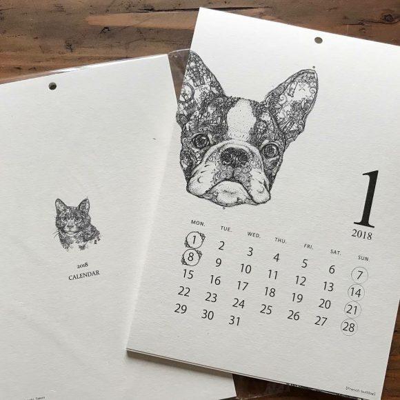 田村覚志さんの2018年カレンダー入荷しています